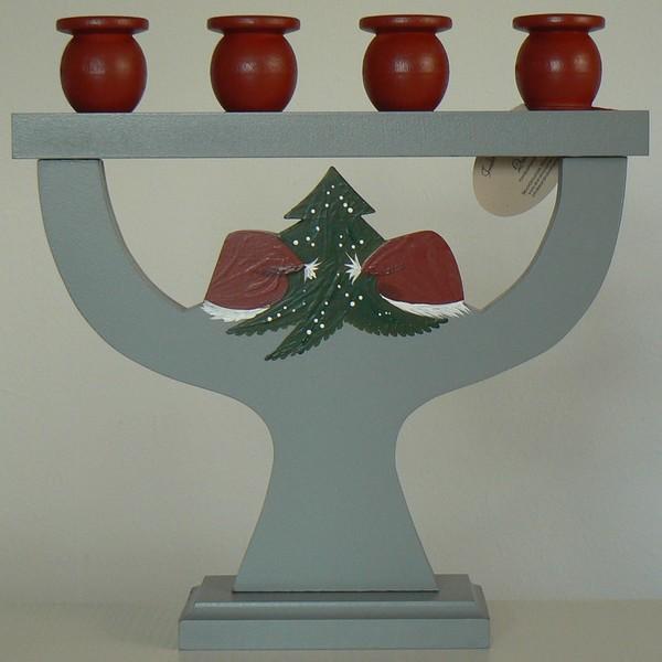 Kerzenhalter Tomte / Gran von hinten