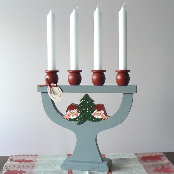 Kerzenleuchter Tomte /Gran handbemalt