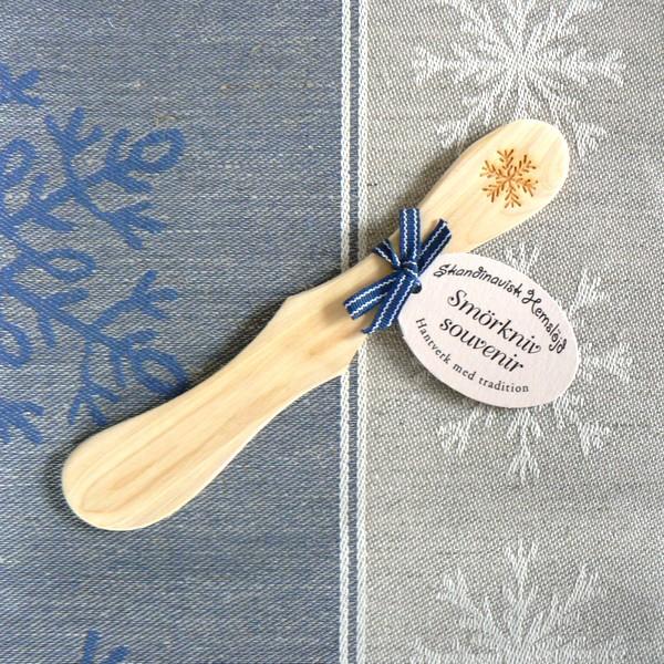 Buttermesser Schneeflocke aus duftendem Wacholderholz
