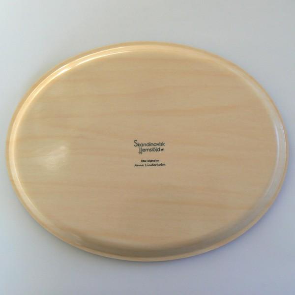 "Tablett oval 33x25cm  ""Sommer in Schweden"" aus Holz"