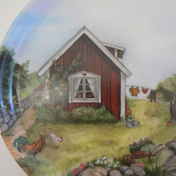 """Tablett oval 33x25cm  """"Sommer in Schweden"""" Schwedenhaus"""