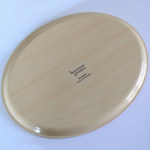 """Tablett oval 33x25cm  """"Lucia-Morgen"""" aus Birkenfurnier"""