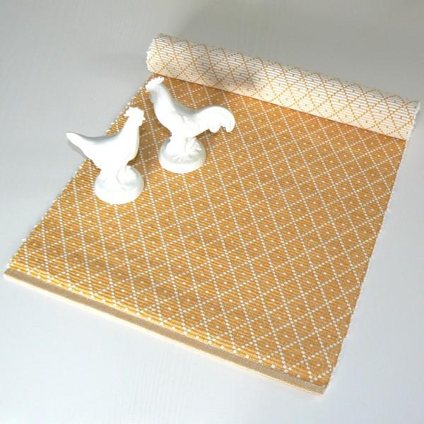 Tischläufer 33x120 cm Ella Safran gelb recycelt