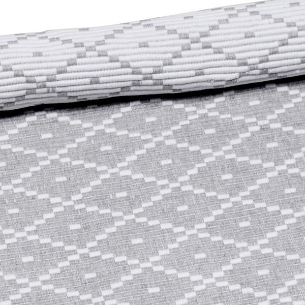 Skandinavischer Landhausstil: Teppich Ella hellgrau 70x160 cm Baumwolle recycelt