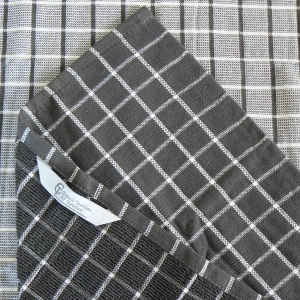 Frottee Küchenhandtuch dunkelgrau recycelt