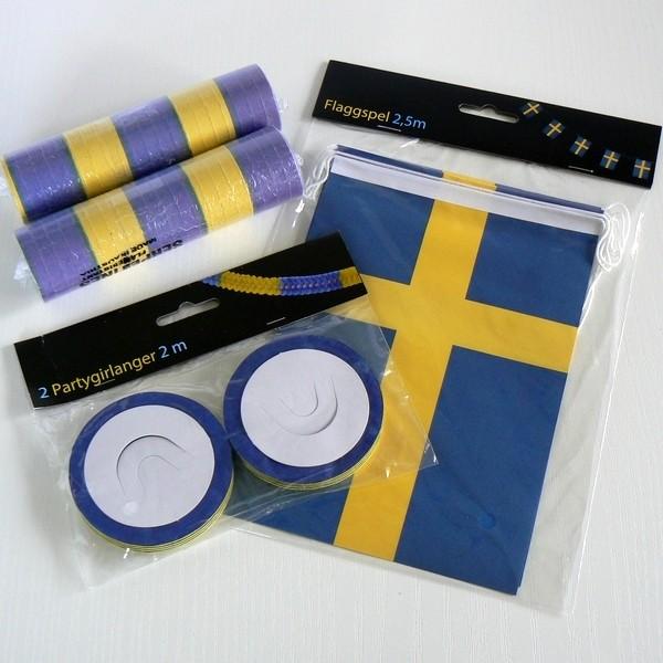 Schwedische blau gelbe Flaggen- Deko