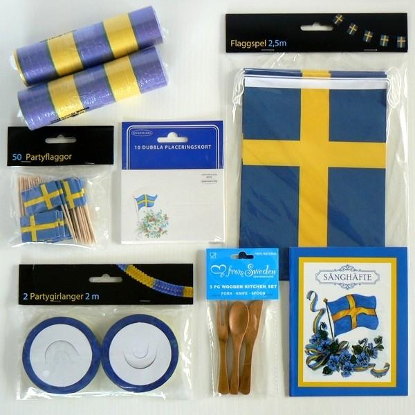 Schwedische blau gelbe Party- Deko für das Sommerfest