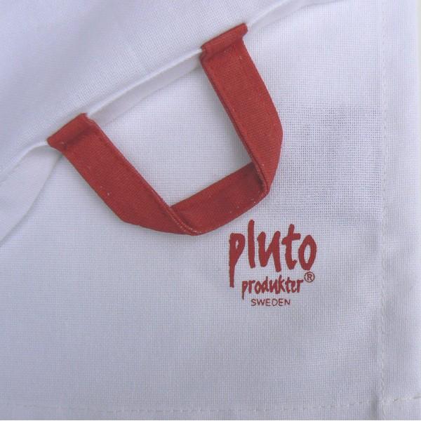 Geschirrtuch Kitz Pluto Produkter Logo und Aufhänger