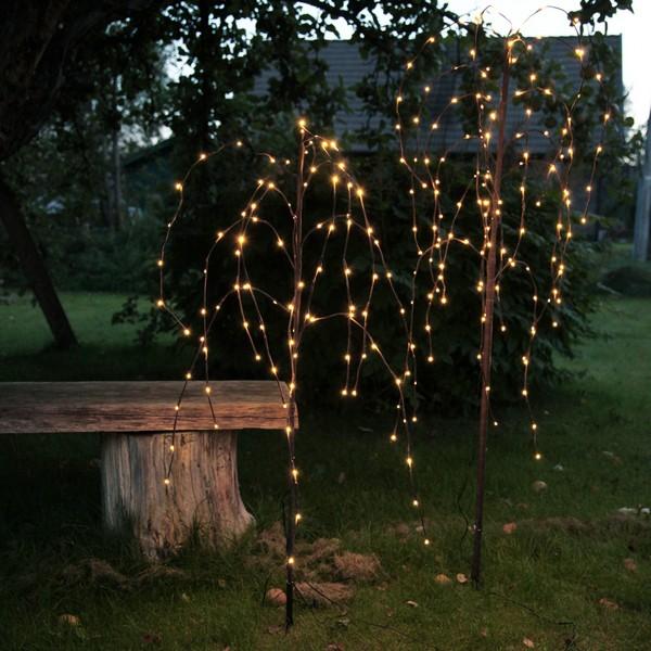 LED-Weidenbäumchen 2er-Set 96 und 144 LEDs