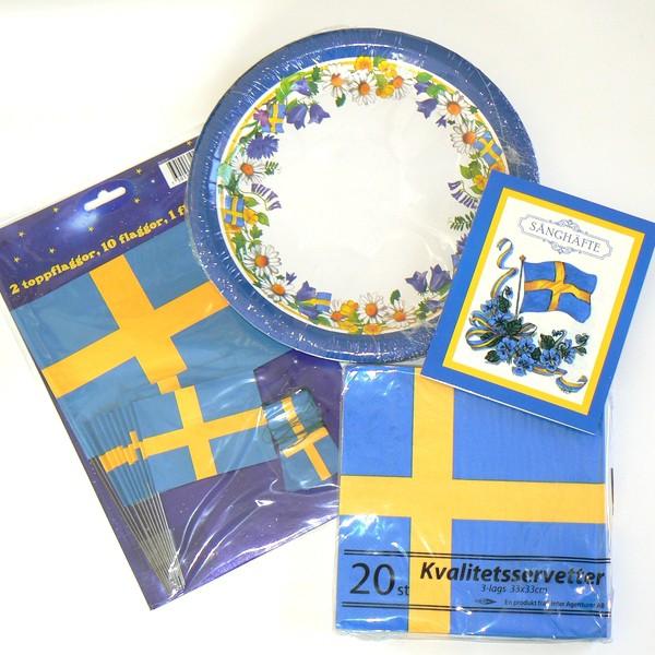 Schwedisches Sommerfest Deko-Set für Mittsommer