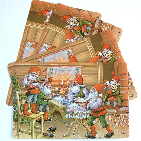 Weihnachtliche Tischsets Julbord 4er-Set