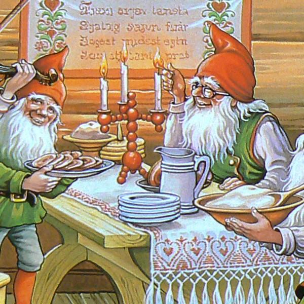 Schwedische Tischsets Julbord 4er-Set