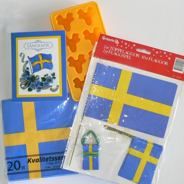 Blau-gelbe schwedische Sommerfest Deko