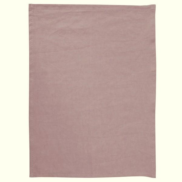 Geschirrtuch aus 100% Leinen rosa
