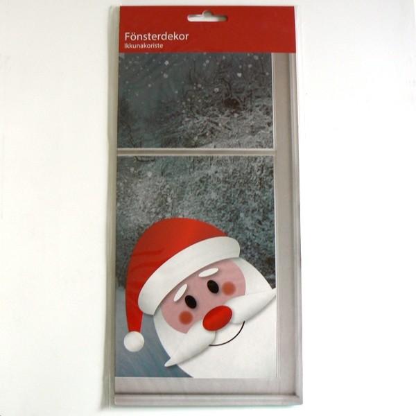Wiederverwendbares Fensterdekor Jultomte
