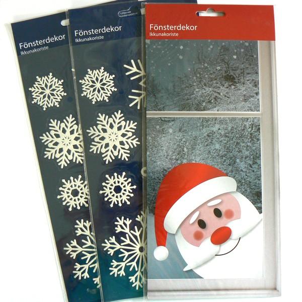 Wiederverwendbares Fensterdekor zu Weihnachten