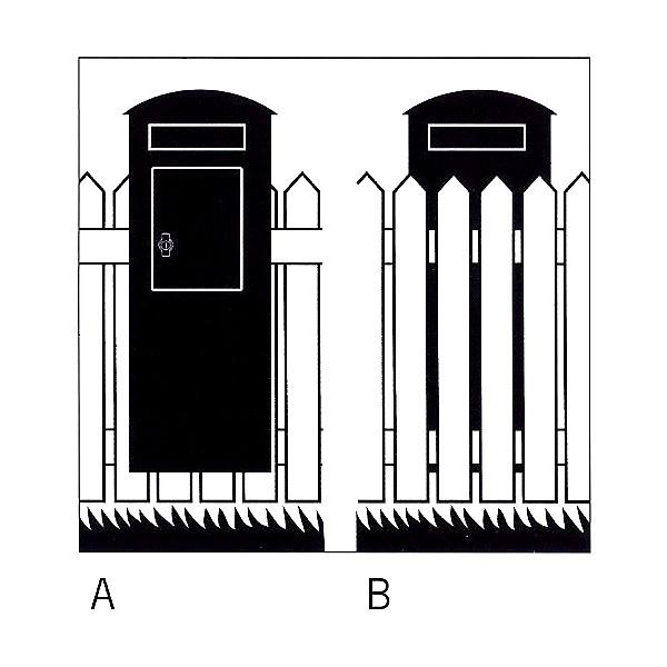 Grafik 1: schwedischer Standbriefkasten Safepost 70-5 Combi mögliche Aufstellarten
