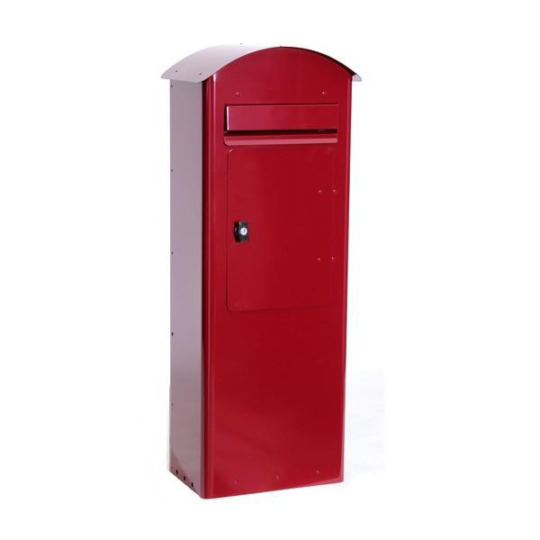 Schwedischer Standbriefkasten Safepost 70-5 Combi rot