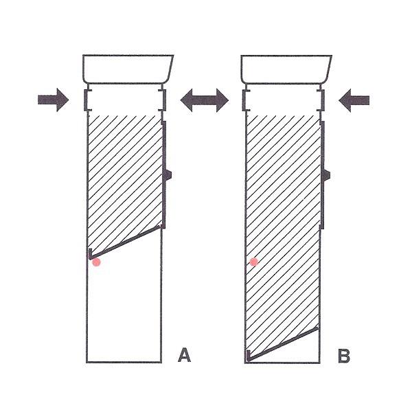 Grafik 2: flexibles Aufnahmevolumen Standbriefkasten Safepost 70-5 Combi