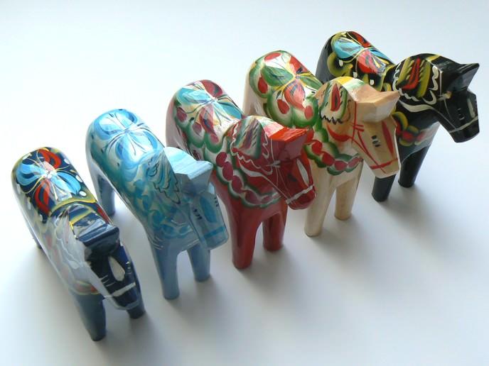 Dalapferde gibt es in vielen wunderbaren Farben